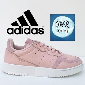 adidas SUPERCOURT Leather Shoes Pink/White